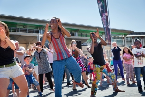 Afidance Participation stage, Dance Village Sun 19th July 2015